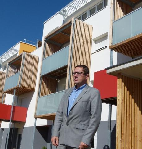 Christophe BERION, Directeur Général d'Orvitis, présente le programme de 70 logements